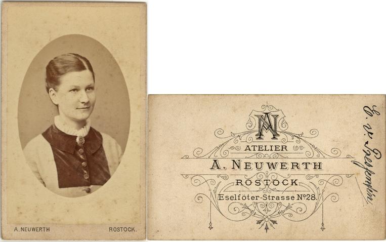 Eleonore v. Pressentin, geb. 1859, wohl spätestens 1884