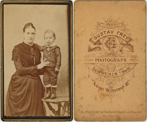 Gustav Frey. Kaiser-Wilhelm-Str. 10. 1888-91. Visitformat