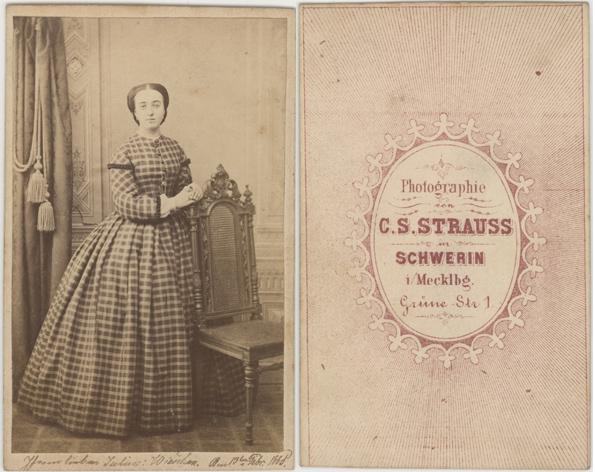 C. S. Strauss. Grüne Straße 1. 1865. Visitformat