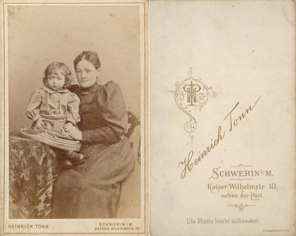 Heinrich Tonn. 1892-1896. Visitformat