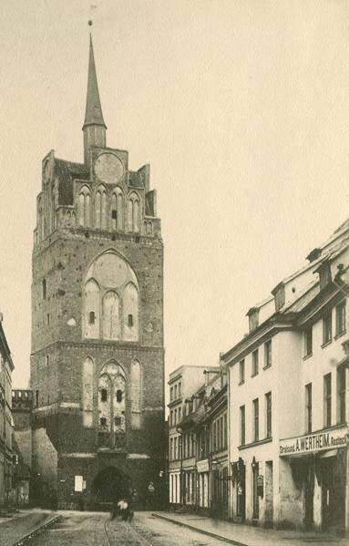 Rechts im Bild das Wertheim-Geschäft. Reproduktion