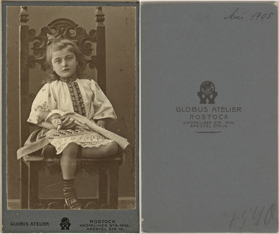 Aufnahme aus dem Mai 1905. Visitformat