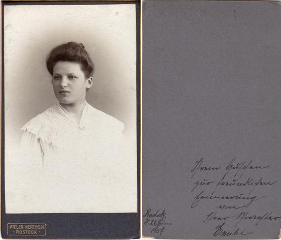 Rückseitig datiert: 26. Juni 1907