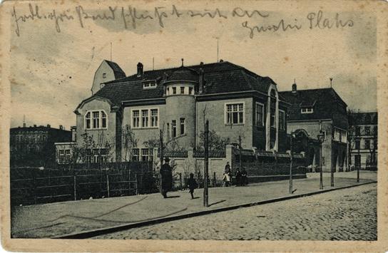 Feuerwehr-Depot an der Helenenstraße. 1913 gelaufen