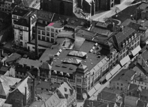 Luftbildaufnahme um 1930. Rechte: FotoMarburg