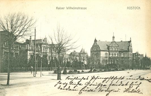 Kaiser-Wilhelm-Straße. 1910 gelaufen