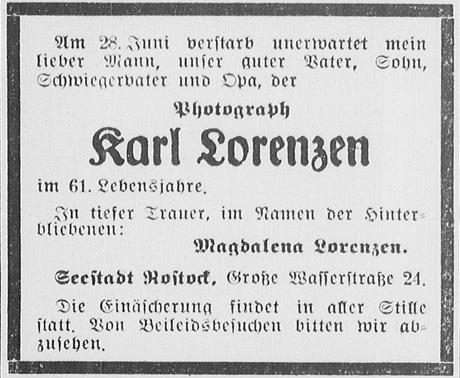 Rostocker Anzeiger, 29./30.06.1940