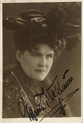 """Maria """"Mimi"""" Wilschauer. 1907 bis 1909 Sängerin am Stadttheater Rostock"""