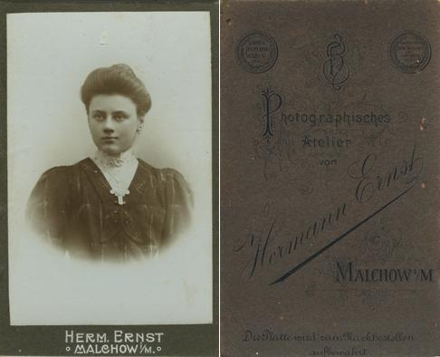 Hermann Ernst. Visitformat. siehe auch Plate und Warin © Klaas Dierks