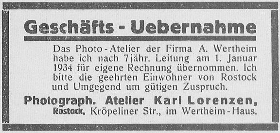 Rostocker Anzeiger, 31.12.1933