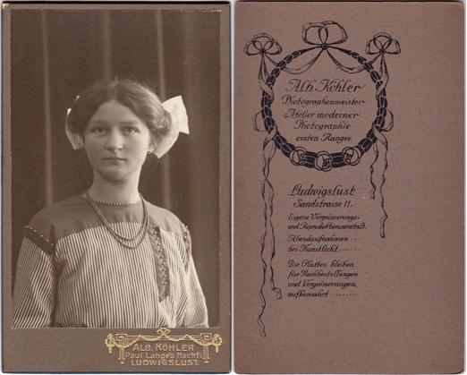 Alb. Koehler. Visitformat
