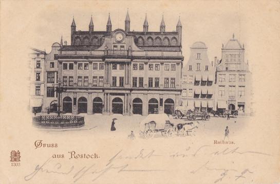 Gruss aus Rostock. Ansichtskarte; ungelaufen