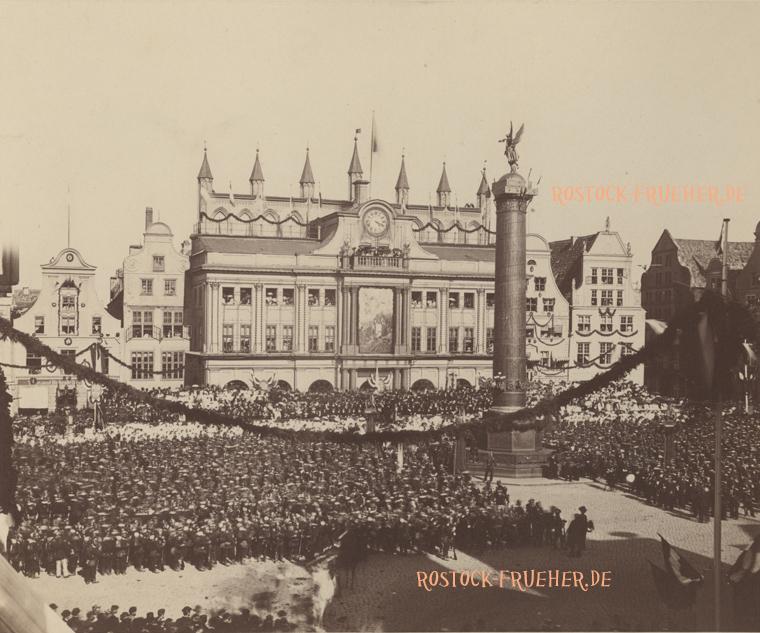 Neuer Markt, 15.06.1871, Feiern zum Sieg des Krieges 1870/71; Großformat; Rückseite siehe A2