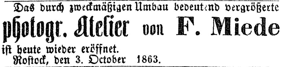 Rostocker Zeitung, 04.10.1863