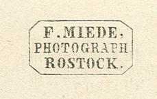 A1: Rückseitig aufgebrachter Stempel; 1860er Jahre. Abb. vergrößert