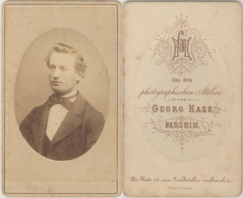Georg Hass; Visitformat