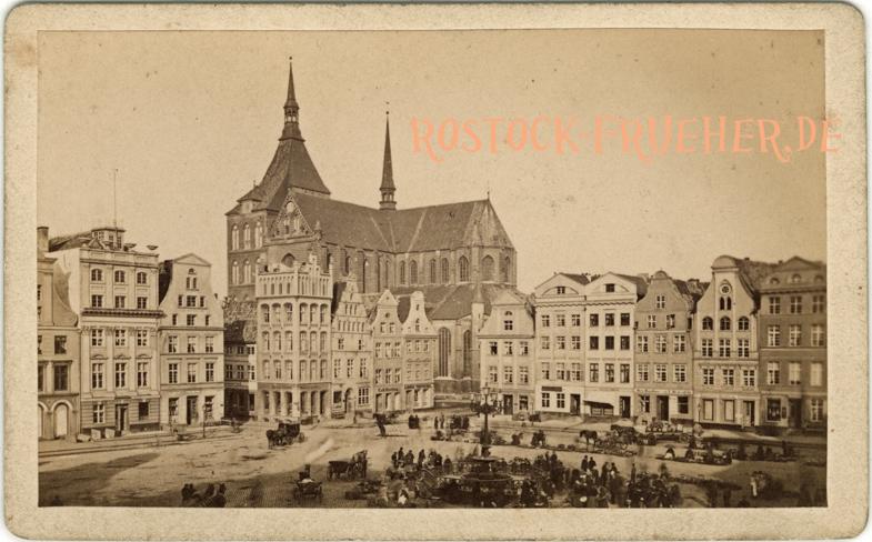 Neuer Markt, Nordwestseite, handschriftlich 1879 datiert; Visitformat, Rückseite siehe A5
