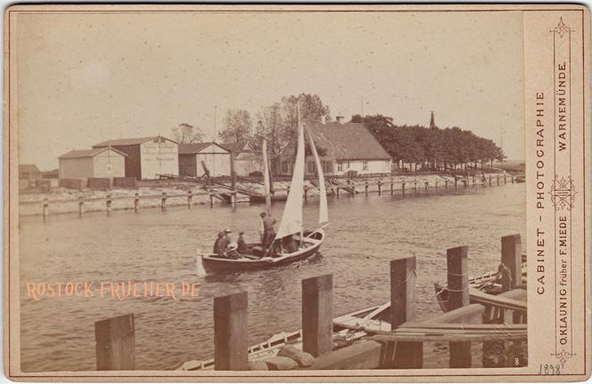 """Am Strom. 1890er Jahre. rechts unten Nummer """"8"""" und Prägung """"H. Koch 1898"""", Kabinettformat, Rückseite blanko; © Sammlung Jörg Utpatel"""