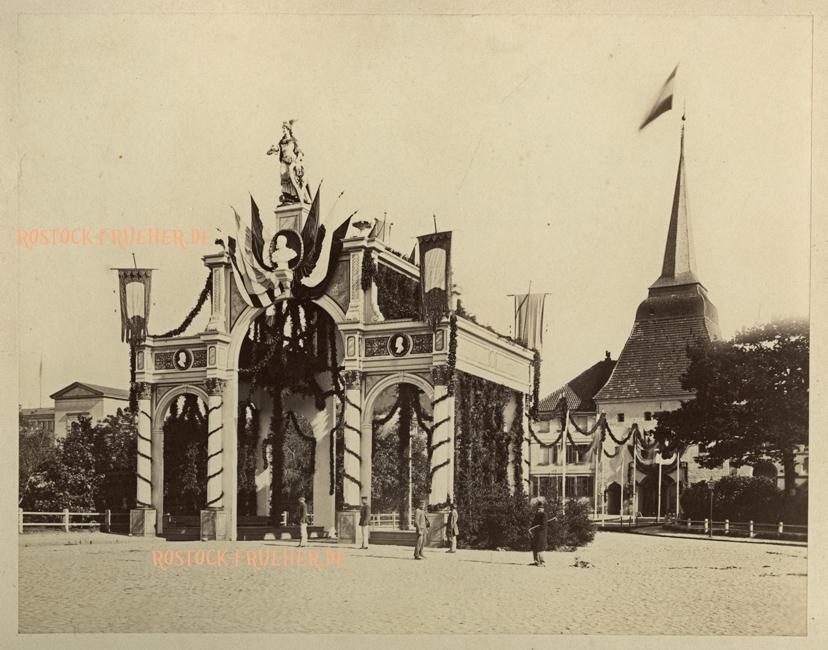 Siegestor vor dem Steintor, 1871, Großformat, Rückenetikett siehe A2
