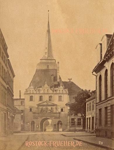 """Steinstraße und Steintor, rechts unten Nummer """"20"""", Albuminpapier, nicht auf Karton gezogen, ohne Urheberangabe"""