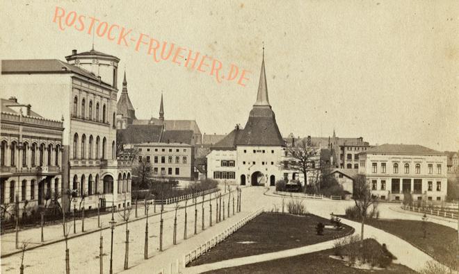 Societät und Steintor, 1860er Jahre, umlaufender Karton nicht abgebildet, Rückseite siehe A1