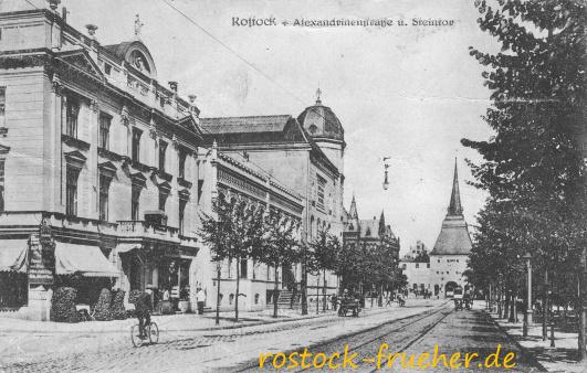 Alexandrinenstraße und Steintor.