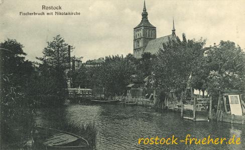 Fischerbruch mit Nikolaikirche