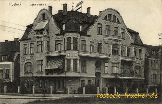 Schillerschloß. 1913 gelaufen