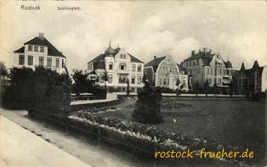 Schillerplatz. 1912 gelaufen
