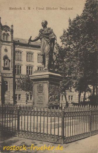 Fürst Blücher Denkmal. 1923 gelaufen
