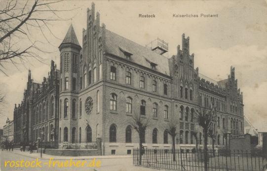 Kaiserliches Postamt. 1918 gelaufen