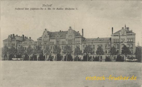 Kaserne des Füsilier-Regt. Nr. 90 Kaiser Wilhelm II. 1916 gelaufen