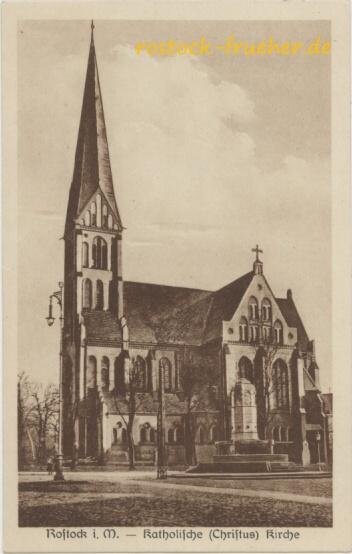 Katholische (Christus) Kirche. Rönnberg. 1930 gelaufen