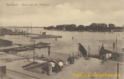 Blick auf die Warnow. 1915 gelaufen