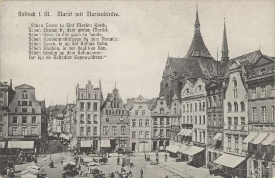 Markt mit Marienkirche. Rönnberg