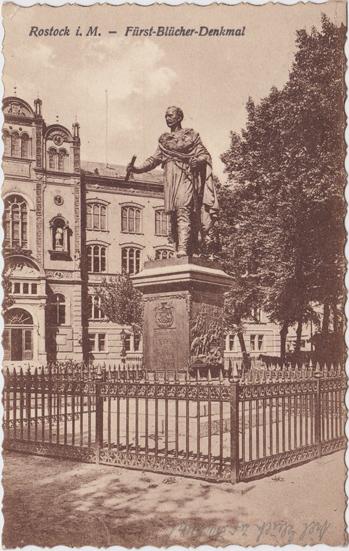 Fürst-Blücher-Denkmal. 1928 gelaufen