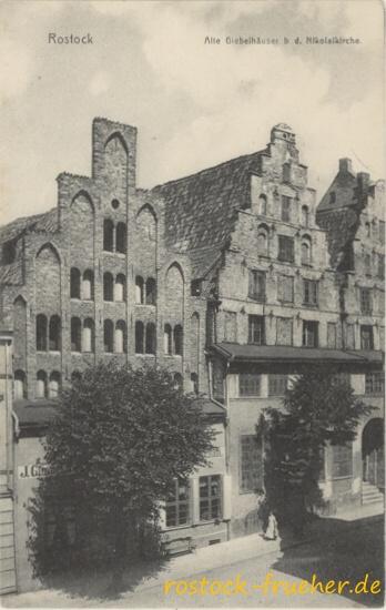 Alte Giebelhäuser b. d. Nikolaikirche