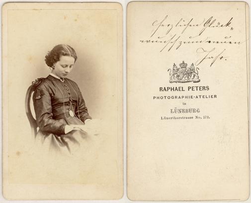 Visitformat. 1860er Jahre