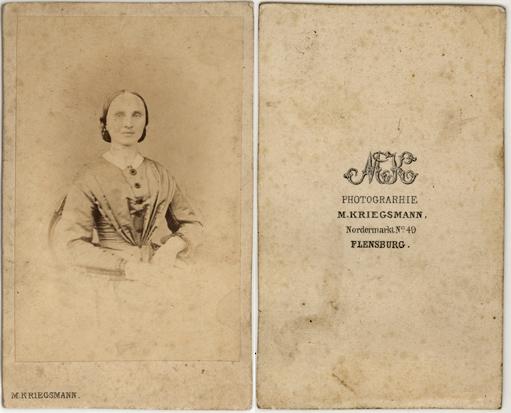 M. Kriegsmann. Visitformat. 1860er Jahre