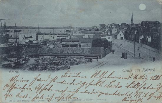 Hafen. 1898 gelaufen