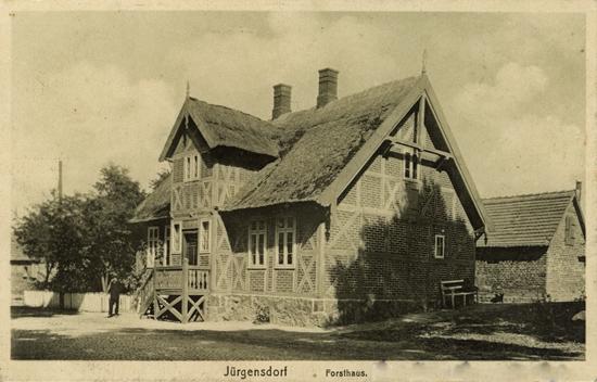 Jürgensdorf. Forsthaus. 1916 gelaufen