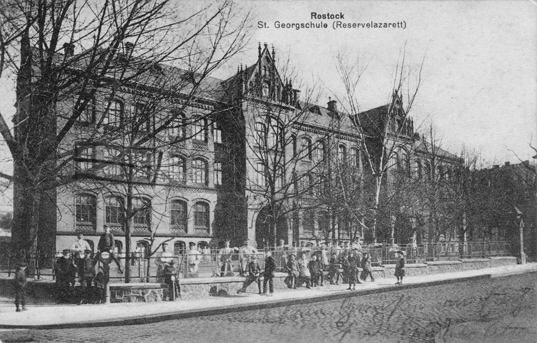 St. Georgschule (Reservelazarett). 1915 gelaufen
