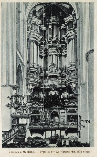 Orgel in der St. Marienkirche. Rönnberg