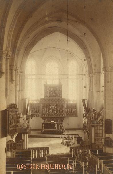 Altar von St. Nicolai; ohne Nr., handschriftlich 1885 datiert, Untersetzkarton nicht abgebildet
