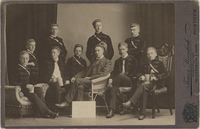 Studentische Verbindung Wingolf, Sommersemester 1907, Kabinettformat, Rückseite blanko