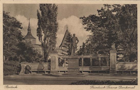 Friedrich Franz-Denkmal. 1931 gelaufen