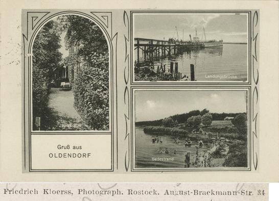 August-Brackmann-Str. 34: Gruß aus Oldendorf. Ansichtskarte, 1939 gelaufen