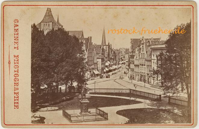 Hopfenmarkt, um 1880. Kabinettformat, Rückseite A3