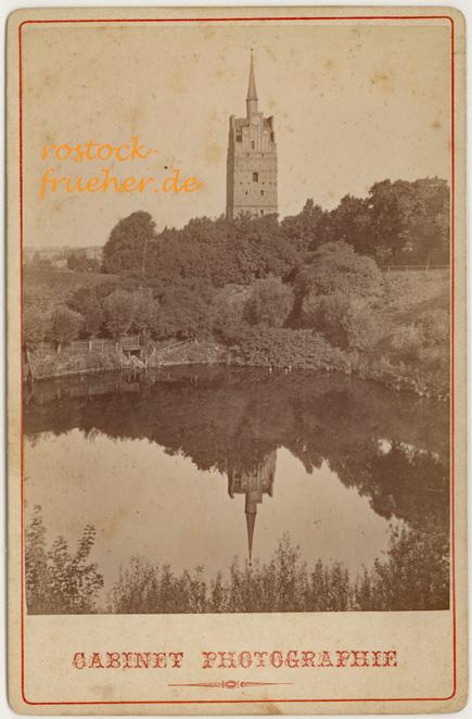 Kröpeliner Tor und Teufelskuhle, um 1880. Kabinettformat, Rückseite siehe A3