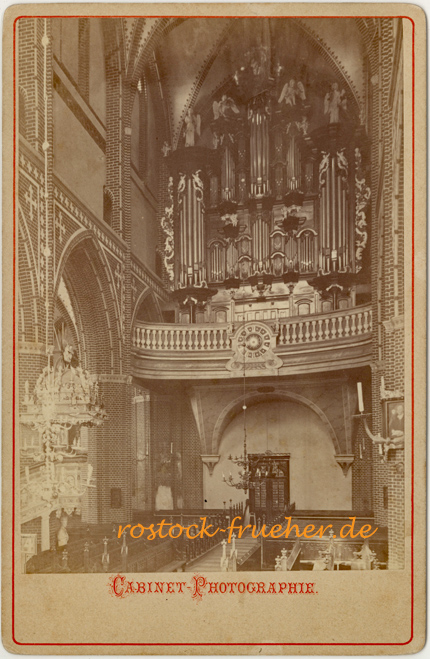 St. Petri, Orgel; Ende 1870er Jahre. Kabinettformat, Rückseite siehe A2